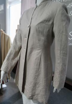 White Label Leinenjacke mit Stickerei